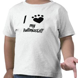 I Heart My Bullmastiff Tee Shirt