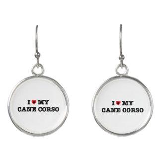 I Heart My Cane Corso Drop Earrings