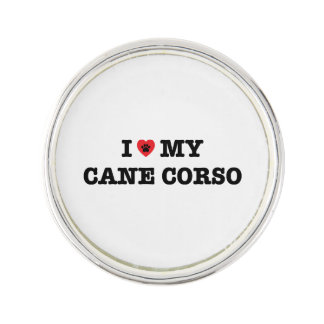 I Heart My Cane Corso Lapel Pin