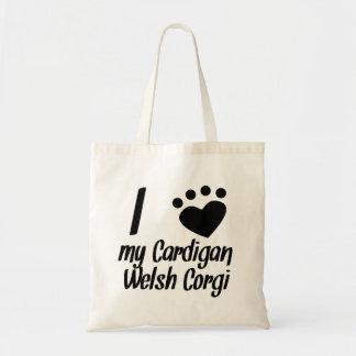I Heart My Cardigan Welsh Corgi Canvas Bags