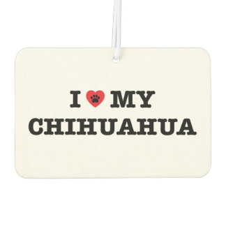 I Heart My Chihuahua Car Air Freshener