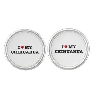 I Heart My Chihuahua Cufflinks