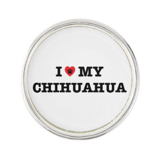 I Heart My Chihuahua Lapel Pin