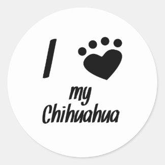 I Heart My Chihuahua Sticker