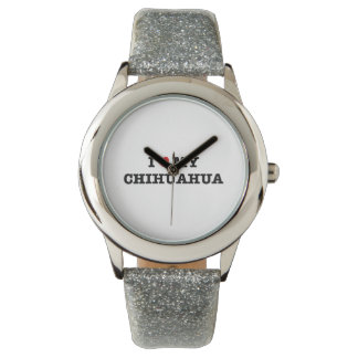 I Heart My Chihuahua Wristwatch