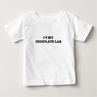 I Heart My Chocolate Lab Baby T-Shirt