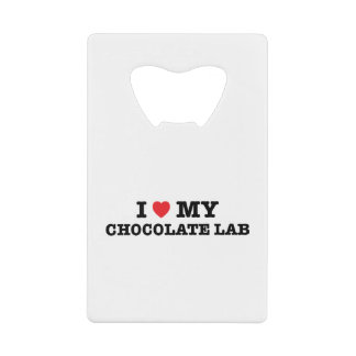 I Heart My Chocolate Lab Bottle Opener