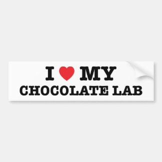 I Heart My Chocolate Lab Bumper Sticker