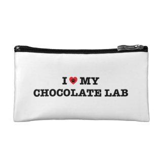 I Heart My Chocolate Lab Cosmetic Bag