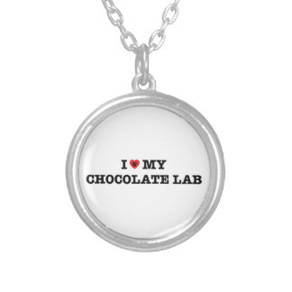 I Heart My Chocolate Lab Necklace