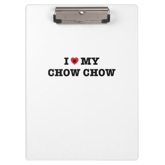 I Heart My Chow Chow Clipboard