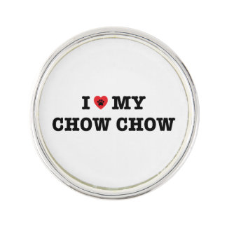 I Heart My Chow Chow Lapel Pin