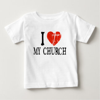 I Heart My Church Baby T-Shirt