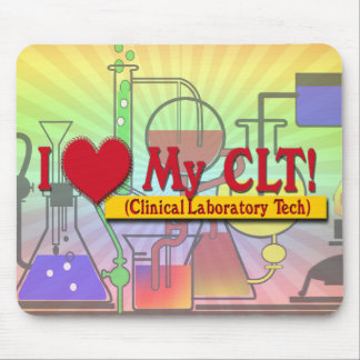 I Heart My CLTS CLINICAL LABORATORY TECH Mouse Pad