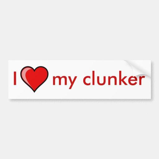 I Heart my clunker Car Bumper Sticker