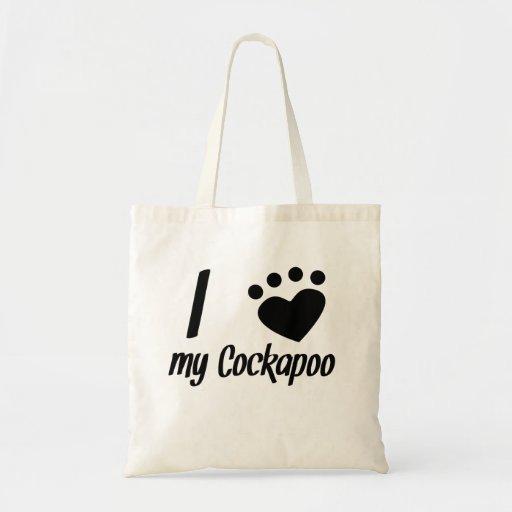 I Heart My Cockapoo Canvas Bag