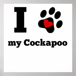 I Heart My Cockapoo Poster