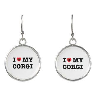 I Heart My Corgi Drop Earrings