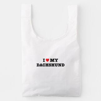 I Heart My Dachshund Baggu Reusable Bag