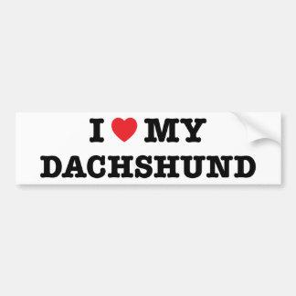 I Heart My Dachshund Bumper Sticker