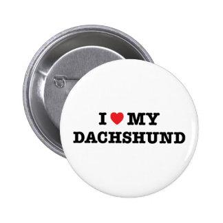 I Heart My Dachshund Button
