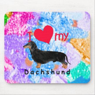I Heart My Dachshund Mousepads