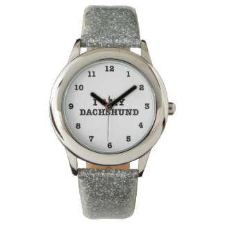 I Heart My Dachshund Numbered Wristwatch