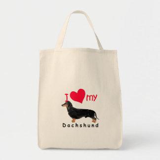 I Heart My Dachshund Tote Bags