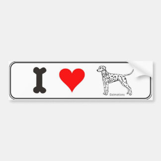 I Heart My Dalmatian Bumper Sticker