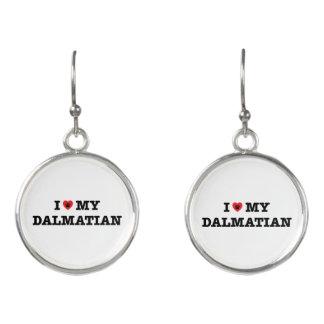 I Heart My Dalmatian Drop Earrings