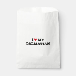 I Heart My Dalmatian Favor Bag Favour Bags