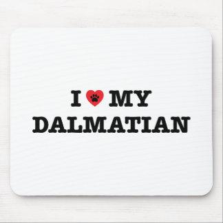 I Heart My Dalmatian Mouse Pad