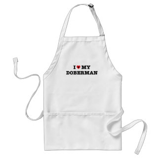 I Heart My Doberman Apron