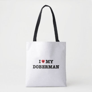 I Heart My Doberman Tote Bag