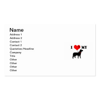 I Heart My Dog Pack Of Standard Business Cards