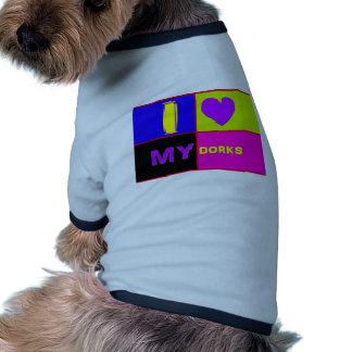 I Heart My Dorks long Dog Clothing