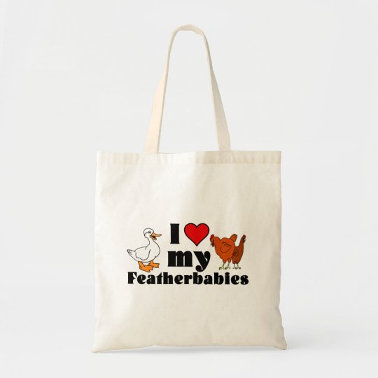 i Heart my featherbabies Tote Bag