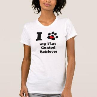 I Heart My Flat-Coated Retriever Shirts