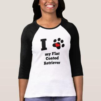 I Heart My Flat-Coated Retriever Tee Shirt