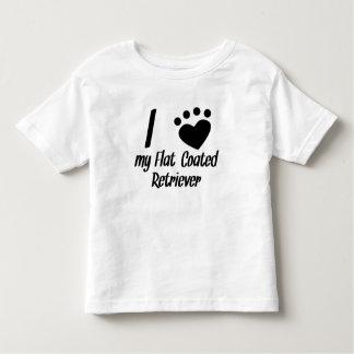 I Heart My Flat-Coated Retriever Toddler T-Shirt