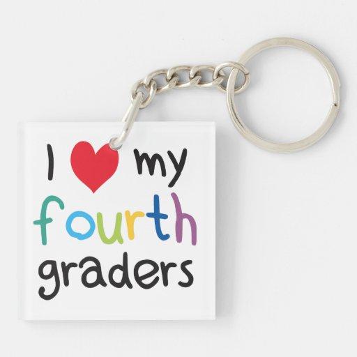 I Heart My Fourth Graders Teacher Love Key Chain