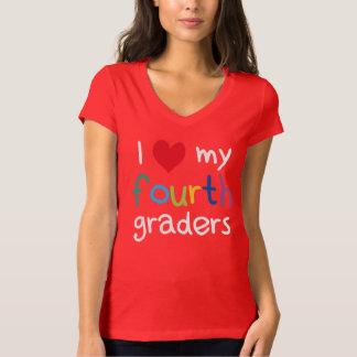 I Heart My Fourth Graders Teacher Love T-Shirt