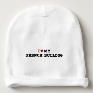 I Heart My French Bulldog Baby Beanie