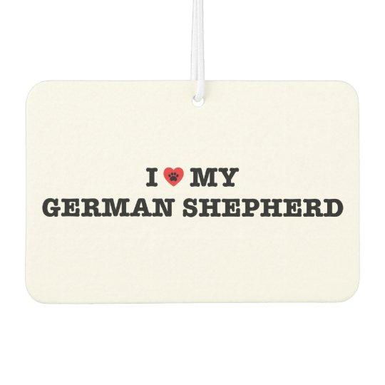 I Heart My German Shepherd Car Air Freshener