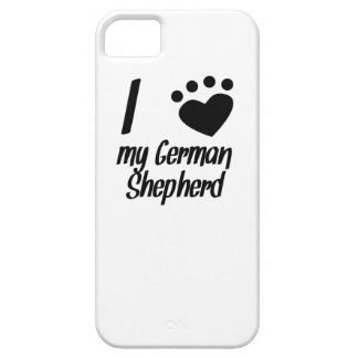 I Heart My German Shepherd Cover For iPhone 5/5S