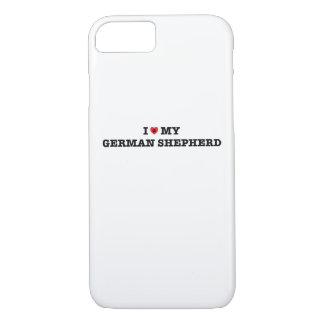 I Heart My German Shepherd iPhone Case