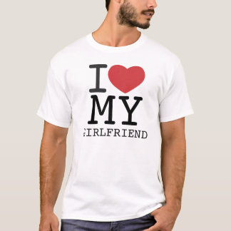 I HEART MY GIRLFRIEND customizable T-Shirt