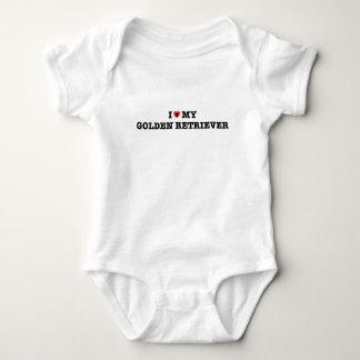 I Heart My Golden Retriever Baby Bodysuit