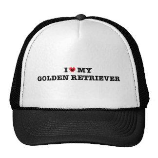 I Heart My Golden Retriever Trucker Hat
