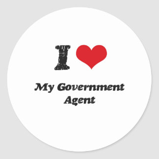 I heart My Government Agent Sticker